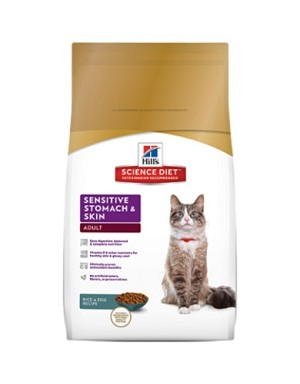Hill's Science Diet Feline Adult Sensitive Stomach & Skin Dry Cat Food