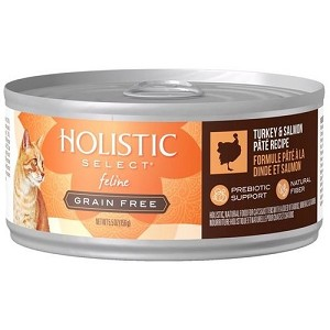 Holistic Select GRAIN FREE Canned Turkey & Salmon Pate Cat Food