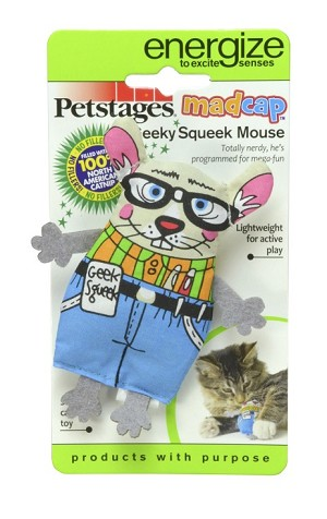 Petstages Geeky Squeak Mouse