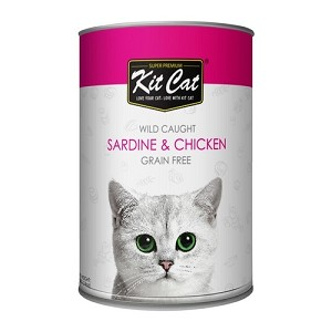 KitCat Canned Super Premium Pacific Sardine With Tender Chicken Cat Food