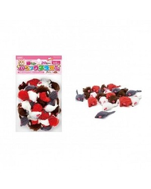 Marukan 20pc Squeaky Mouse Cat Toy