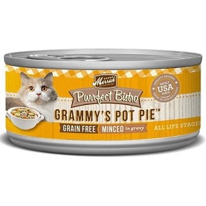 Merrick Canned Purrfect Bistro Grain Free Minced Grammy's Pot Pie Cat Food