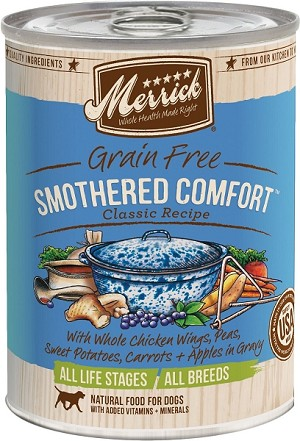 Merrick Grain Free Smothered Comfort canned