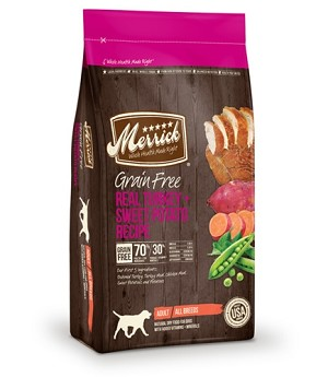 Merrick Grain Free Real Turkey + Sweet Potato Recipe Dry Dog Food