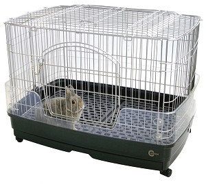 Marukan Rabbit Cage with Clear Guard L68xW47xH51cm