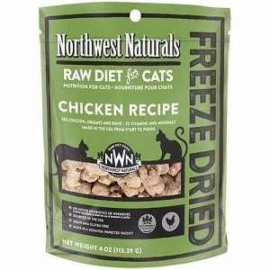 Northwest Naturals Freeze Dried Chicken Recipe Raw Nibbles Cat Food 4oz