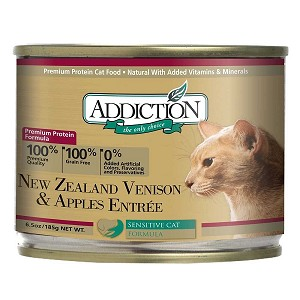 Addiction Canned Cat Food, Venison & Apples Entree - Grain Free