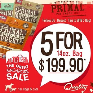 Primal GSS Freeze Dried Canine Promo 5 For $199.90