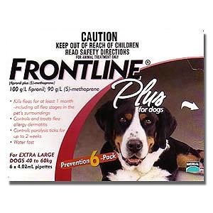 Frontline Plus for Extra Large Dogs 40 - 60kg