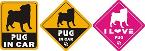 Car Decals - Pug