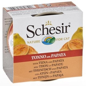 Schesir Canned Tuna and Papaya Fruit Dinner Cat Food