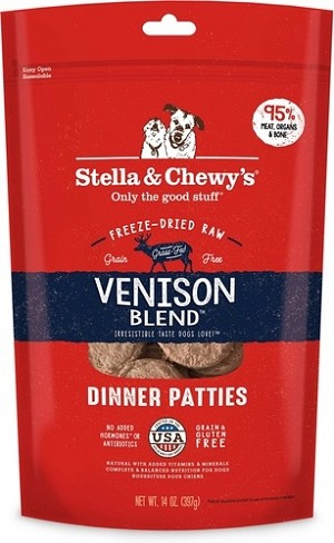 Stella & Chewy's Venison Blend Dinner Freeze Dried Patties
