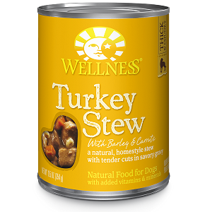 Wellness Chunks & Gravy, Turkey Stew with Barley & Carrots, Canned Dog Food