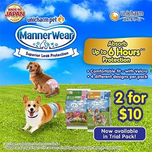 [2 FOR $10] Unicharm Male / Female Dog Band 4pcs Trial Pack