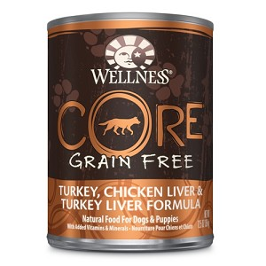 Wellness Core Canned Grain Free Turkey, Chicken Liver & Turkey Liver Formula