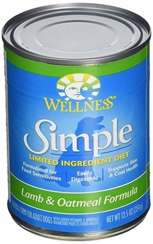 Wellness Simple Food Solutions Canned Lamb & Oatmeal Allergy Formula