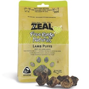 Zeal Free Range Naturals Lamb Puffs Cat & Dog Treats
