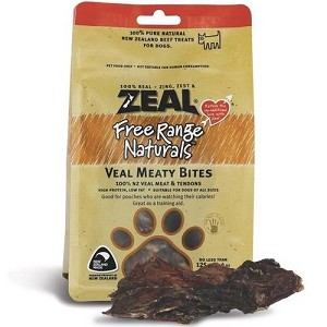 Zeal Free Range Naturals Veal Meaty Bites Dog Treats