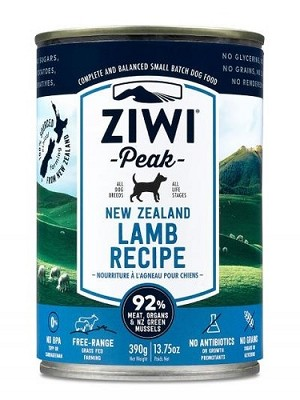 Ziwipeak Canned Dog Food Lamb 390gm