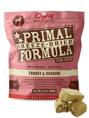 Primal FREEZE-DRIED Canine Turkey & Sardine Formula