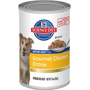 Science Diet Dog Canned Mature Adult Gourmet Chicken Entrée
