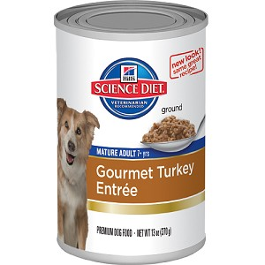 Science Diet Dog Canned Mature Adult Gourmet Turkey Entrée