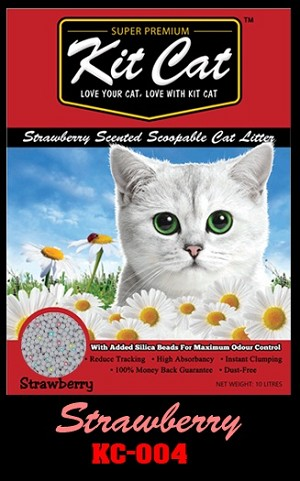 KitCat Super Premium Strawberry Cat Litter