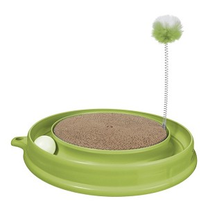 Cat It Cat Play & Scratch Toy Green