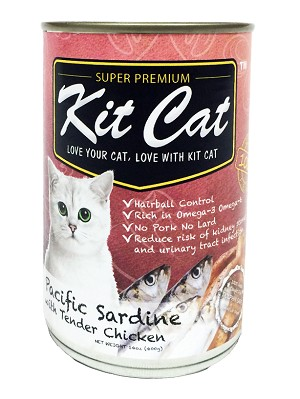 KitCat Cat Canned Super Premium Pacific Sardine With Tender Chicken