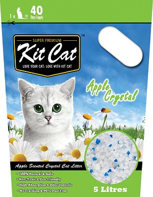 Kitcat Cat Crystal Litter Apple 5L