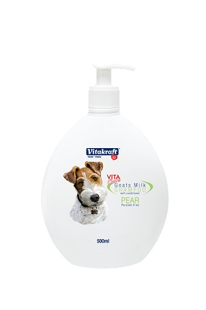 Vitakraft 2 in 1 Goat's Milk Shampoo for Dogs Pear Scented