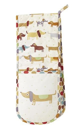 Animal Merchandise Hot Dogs Double Oven Gloves