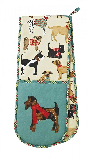 Animal Merchandise Hound Dog Double Oven Glove