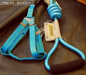 Touchdog Rope & Harness Set - Sky Blue