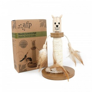 AFP Woodie Scratch and Roll Cat Scratcher