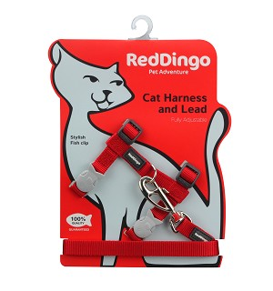 Red Dingo Cat Harness & Lead Combo