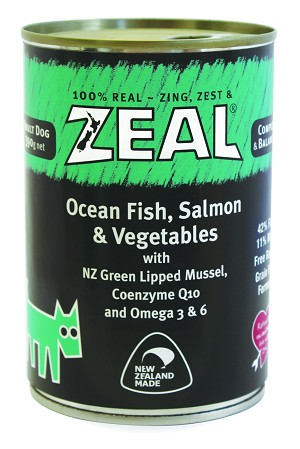 Zeal Dog Canned Food Ocean Fish,Salmon & Vegetable