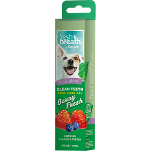 Tropiclean Fresh Breath Clean Teeth Oral Care Gel Berry Fresh 2oz