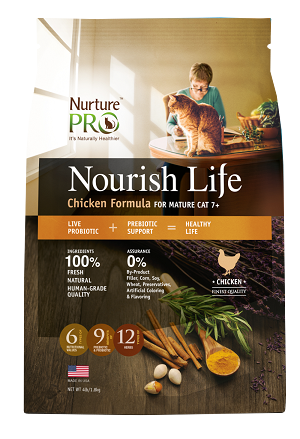 Nurture Pro Nourish Life Chicken Formula for Mature Cats 7+ Dry Cat Food