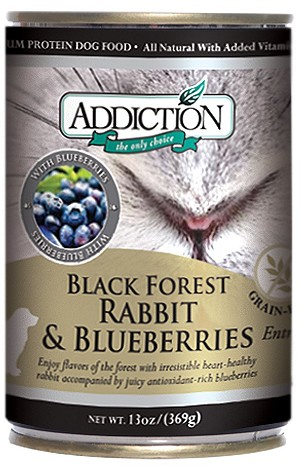 Addiction Canned Dog Food Black Forest Rabbit & Blueberries